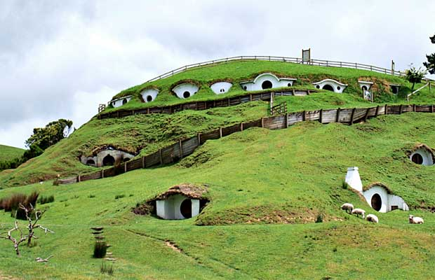Earth Sheltered Homes Outlined Mountainside or Hillside