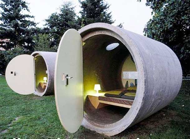 underground culvert homes of concrete and steel