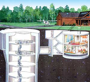 Underground home plans earth sheltered berm housing for Underground house plans